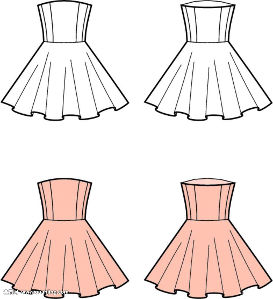 怎样画简单又好看的连衣裙图片