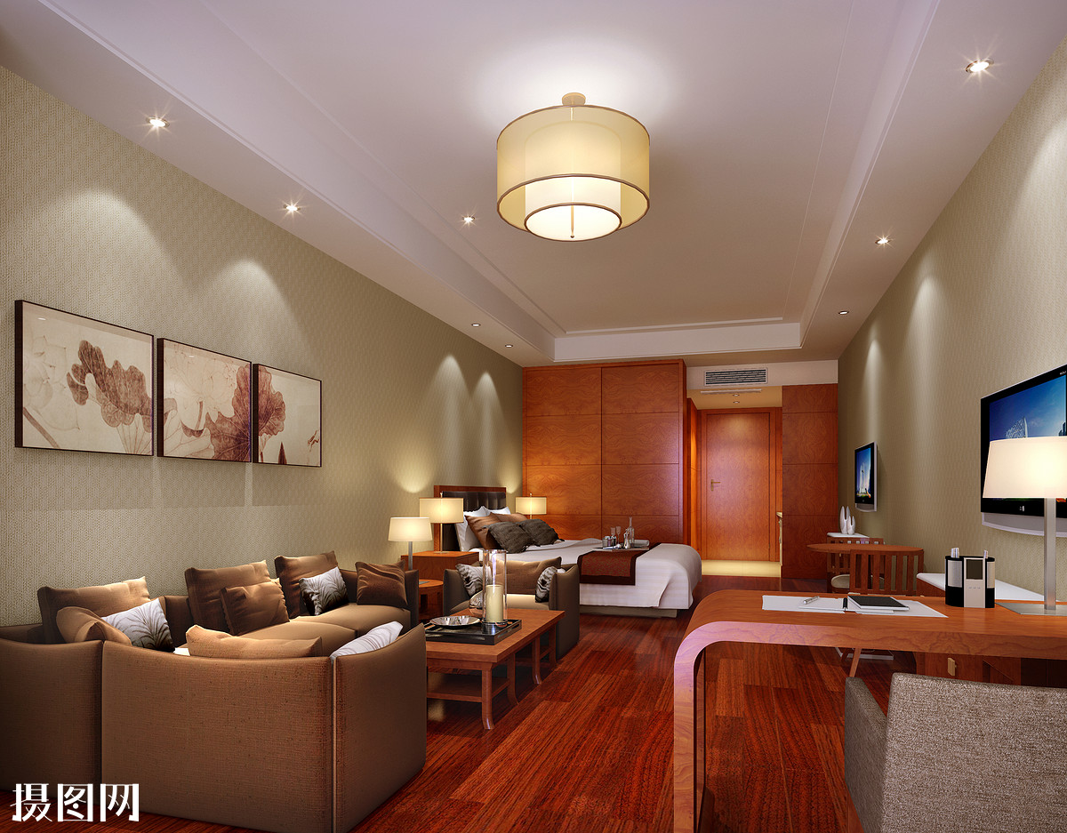 家装效果图,客厅效果图,新中式,环艺效果图,效果图,家装,3d效果图图片