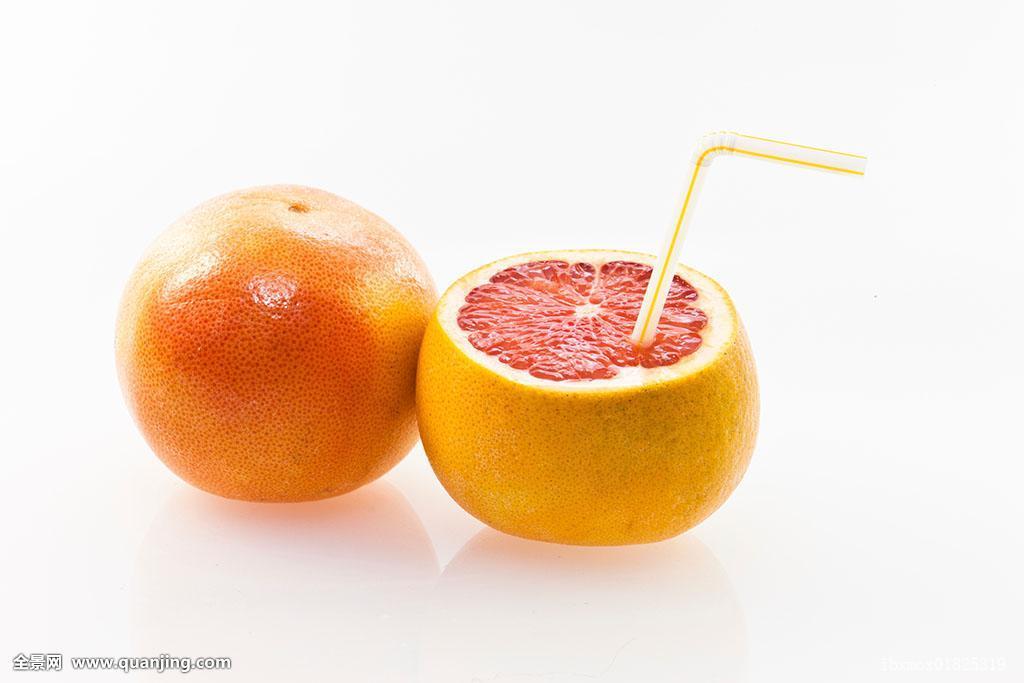 柚子,吸管,饮料图片