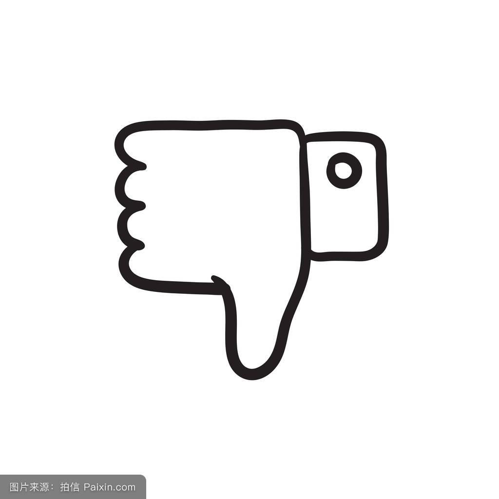 按钮,不赞成,不,白色,率,网络,手势,黑色,手指,拇指,摘要,签名,向下图片