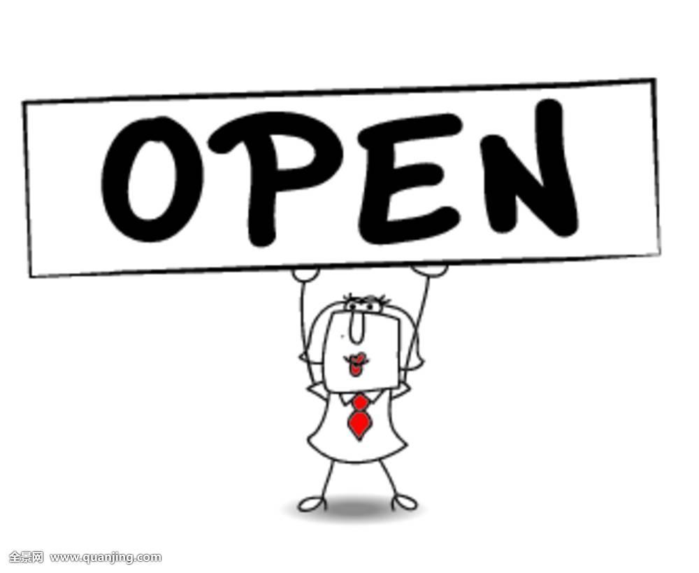 开着,营业时间,女人,店,商店,标识,商业,交易,商贸,销售,留白,活动图片