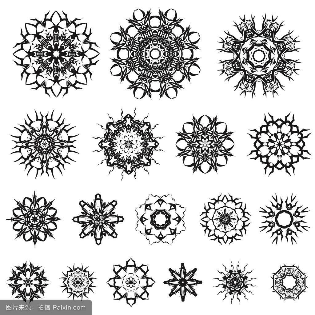 传统花环纹身分享展示图片