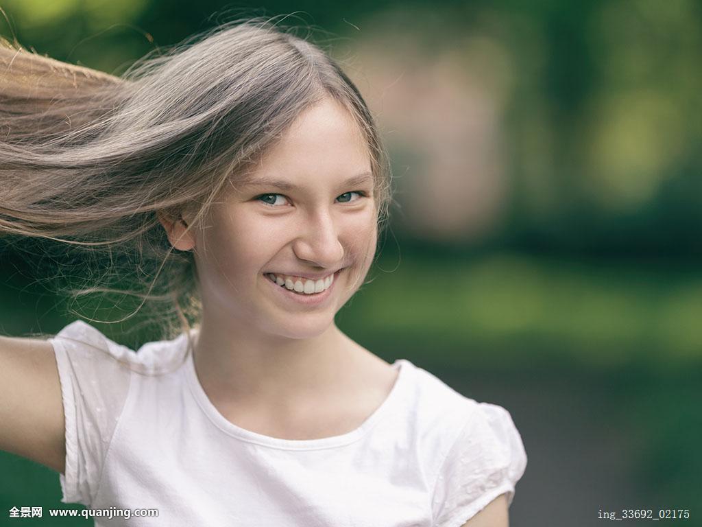 头发,年轻,长,时尚,健康,人,背景,美女,工作室,女孩,青少年,女生图片图片