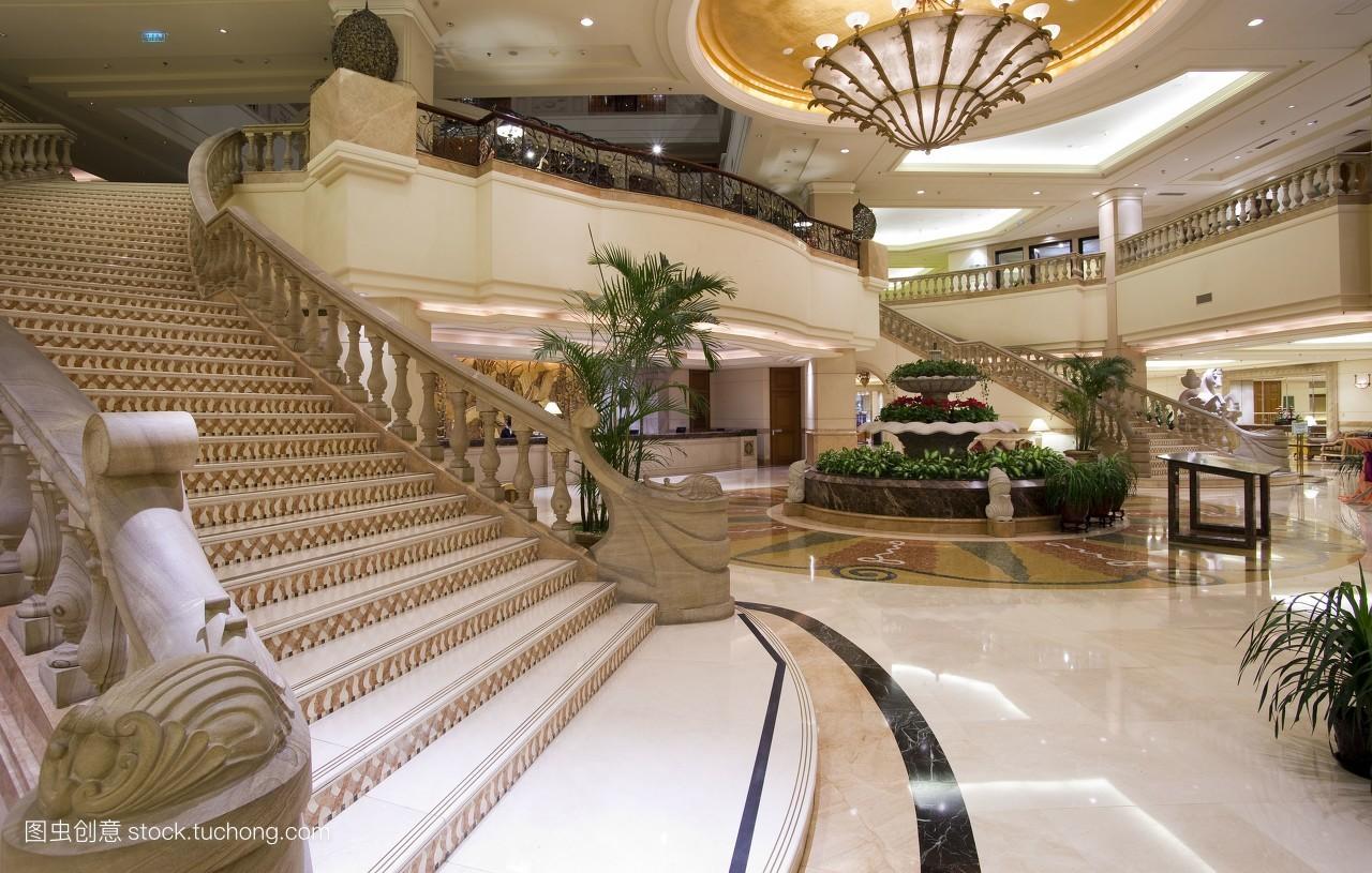 建筑设计,中国的,亚洲,大堂,中国,酒店,东亚,会所,休息区,公共设施图片