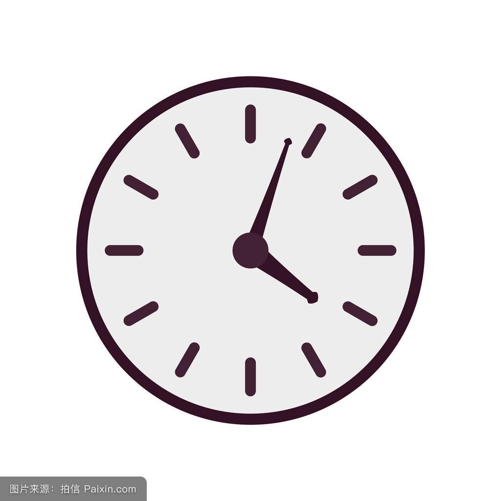 犹太人囹�a_紫色矢量时钟图标