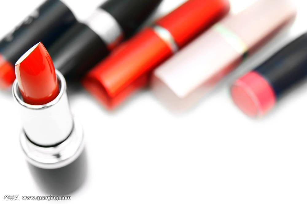 口红,嘴唇,白色背景图片
