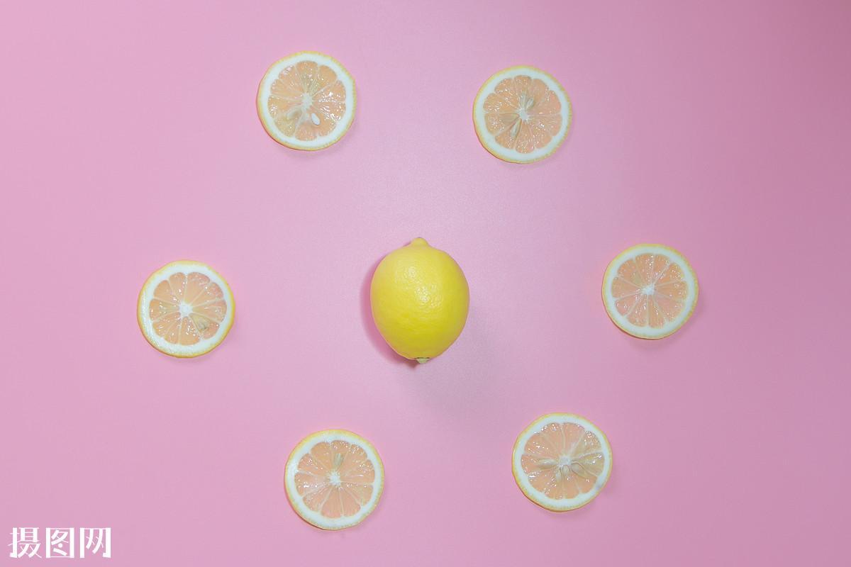 撞色,色彩,红色,蓝色,黄色,柠檬,水果,设计,低饱和度,小清新,干净图片