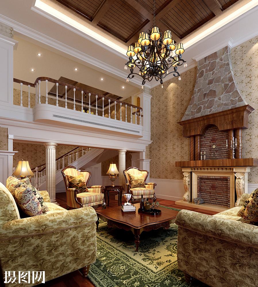 欧式效果图,跃层效果图,家装效果图,客厅效果图,3d效果图,效果图,装修图片