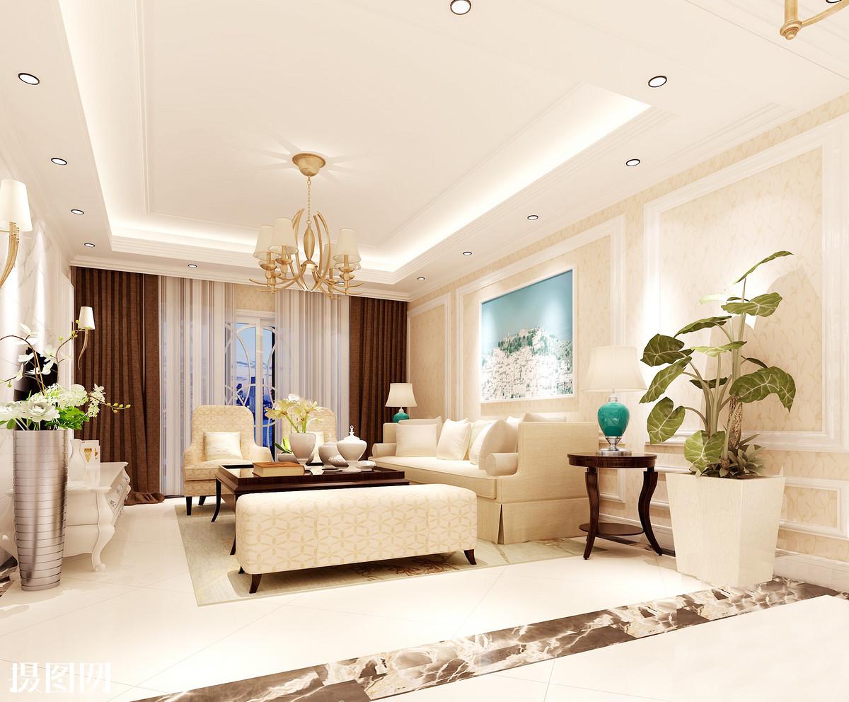 欧式客厅效果图欧式客厅客厅欧式客厅效果沙发组合电视背景墙图片