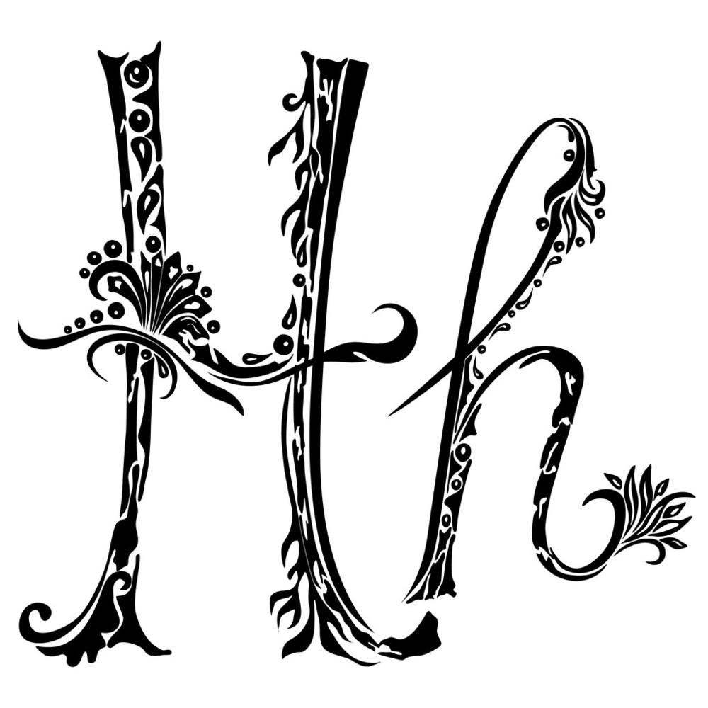 那边可以图案挺漂亮的而且霸气-字母纹身设计