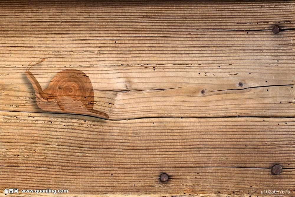 老,老式,木桌,钉子,蜗牛图片