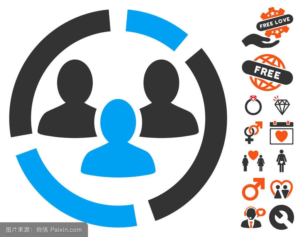 用户,浪漫,社会的,连接,人口统计学的,朋友,人口学,符号,矢量图标图片