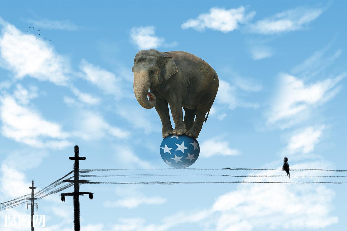 电线杆,,球,大象,幻想,气球,天空,云海,创意,后期,唯美,云朵图片