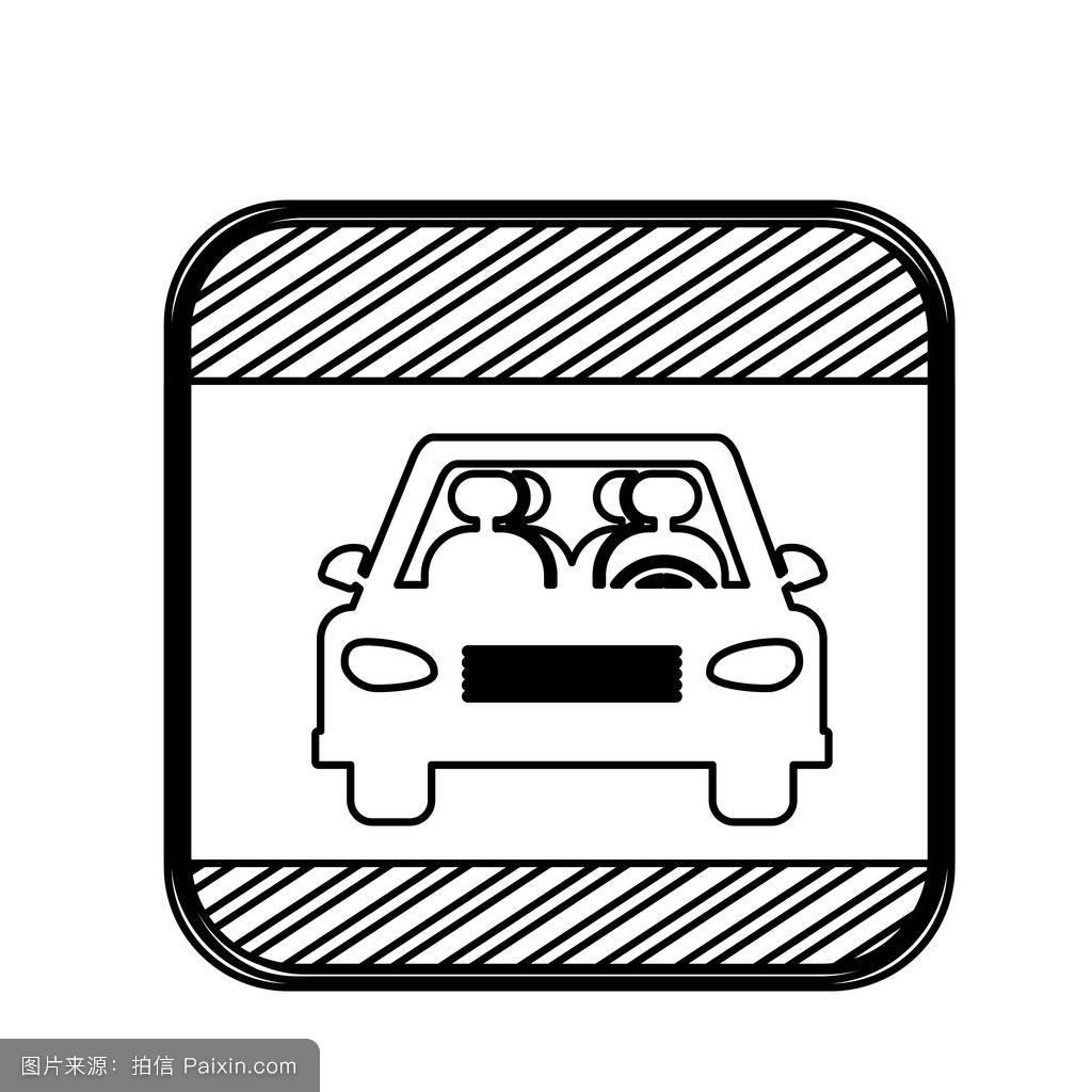 汽车,信息,三角形,符号,障碍,按钮,矢量,方形按钮,注意,十字路口图片