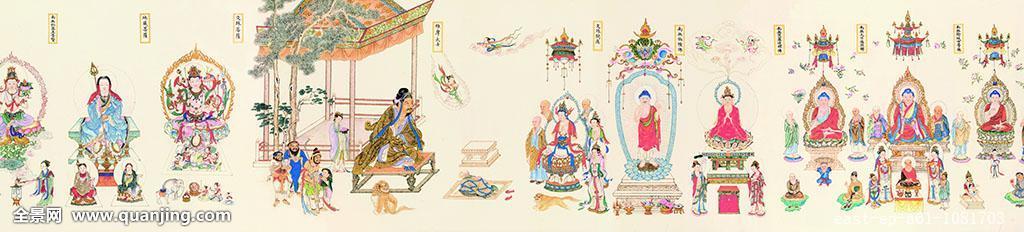 宗教,绘画艺术品,古典式,中国文化,书法,中国,古代,绘画作品,历史图片
