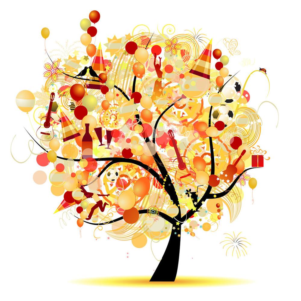 节日快乐,圣诞树,节日标志图片
