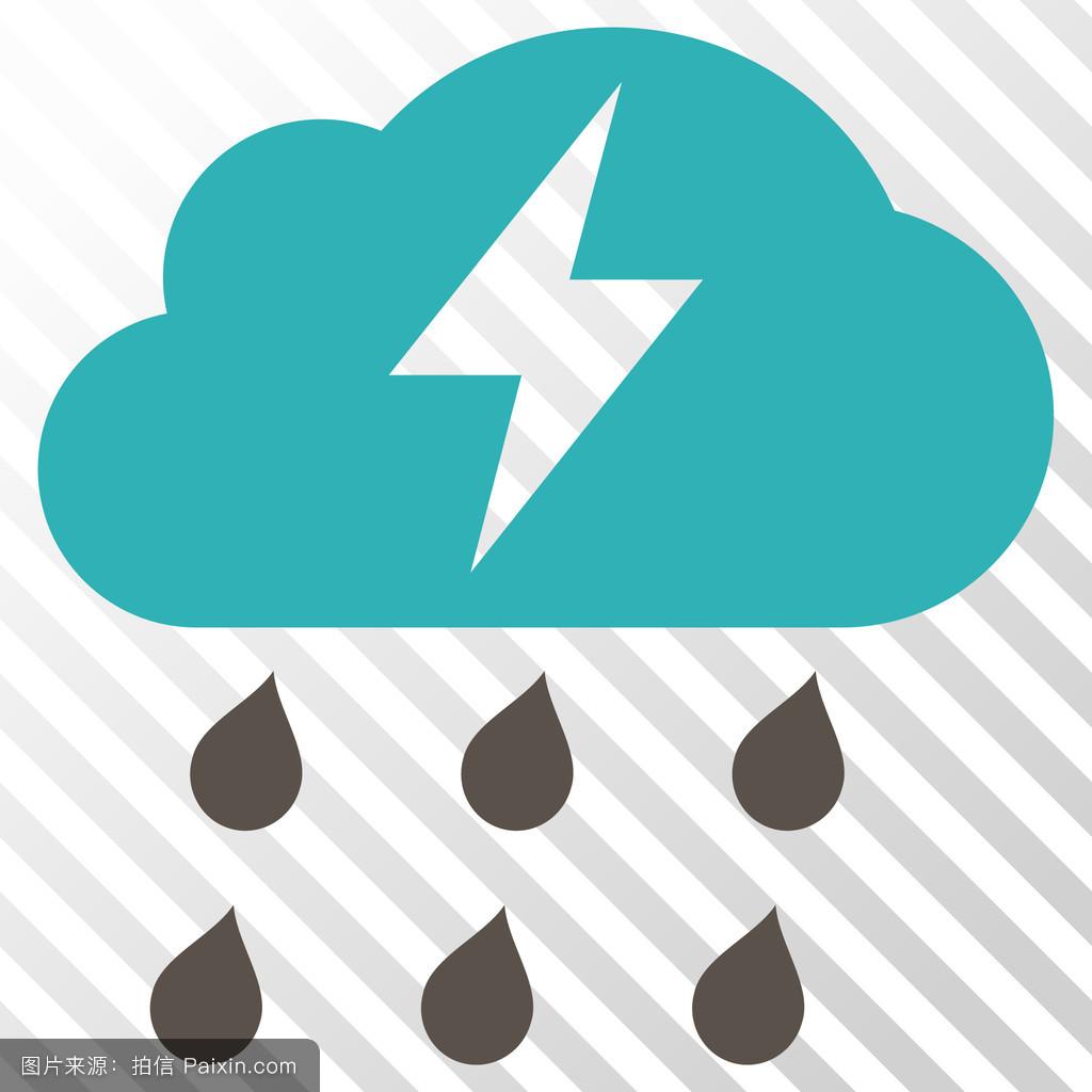预测象形文字暴风雨闪电矢量雕按钮压文电符号天气天气预报投影设计ui图标图片