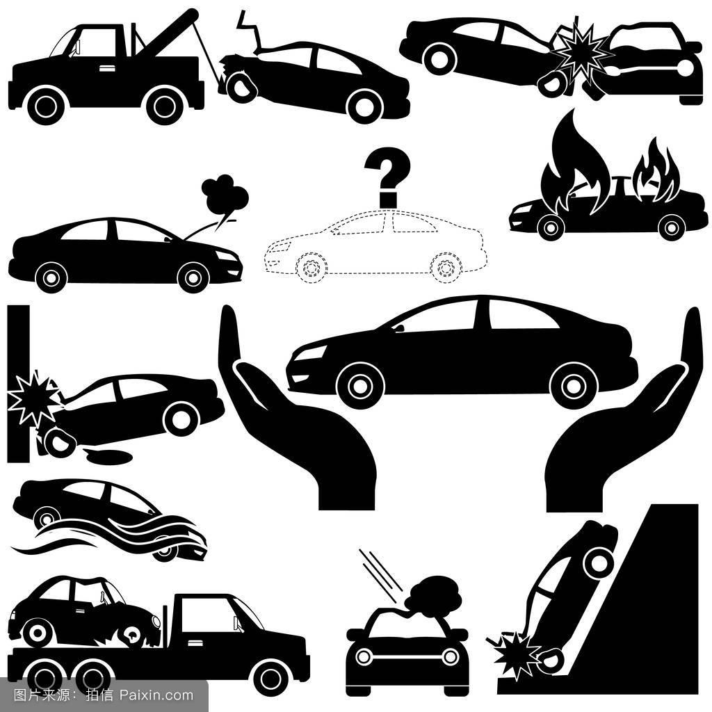 小偷,拆除,图解的,淹没,阳伞,营救,驱动,形状,维修,绘画,盗窃,清障车