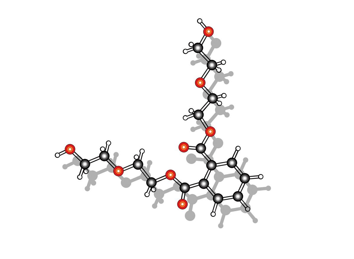 聚氨酯配方体聚酯多元醇(poly)分子结构模式图片