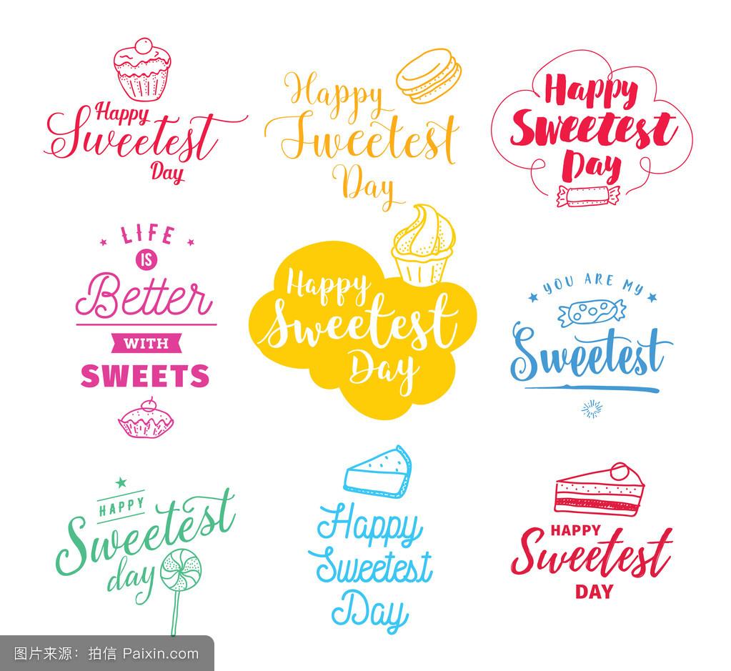 饼干,贴纸,爱,标志,棒棒糖,浪漫的,甜点,图解的,假日,情人,幸福的图片