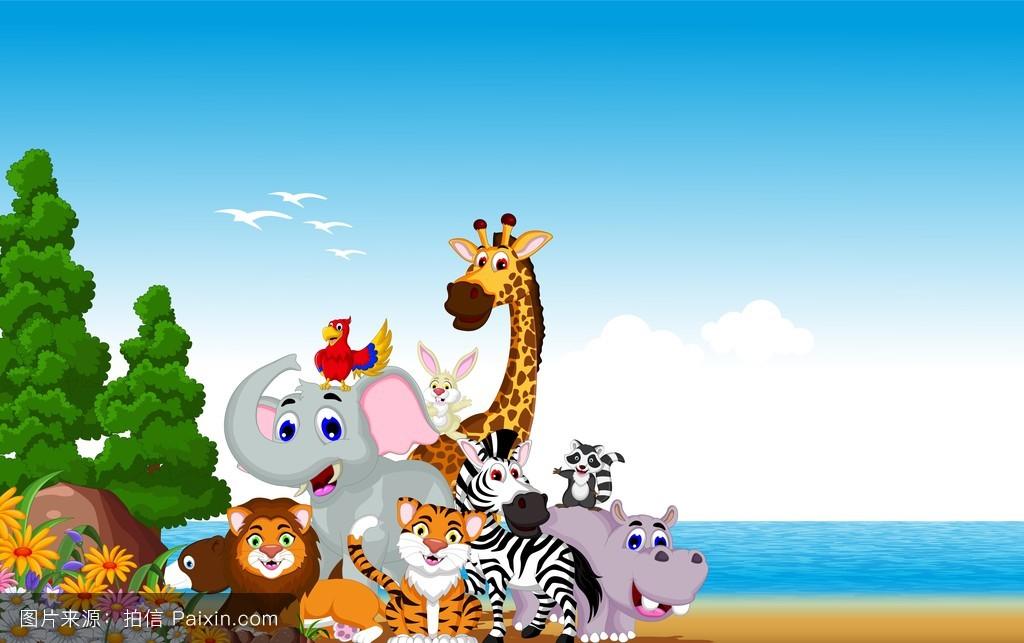游89_卡通,非洲,性格,长颈鹿,空白的,符号,浣熊,哺乳动物,荒野,游猎