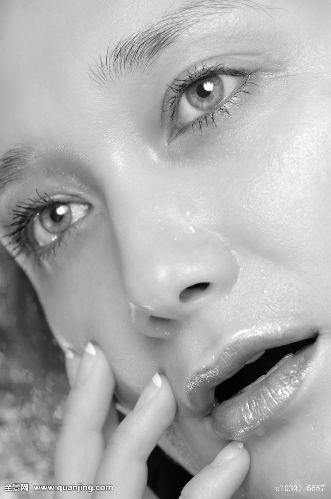 年轻,女人,脸,表情,惊奇,特写,美,张嘴,嘴,眼睛,女性,女孩,哭,生动
