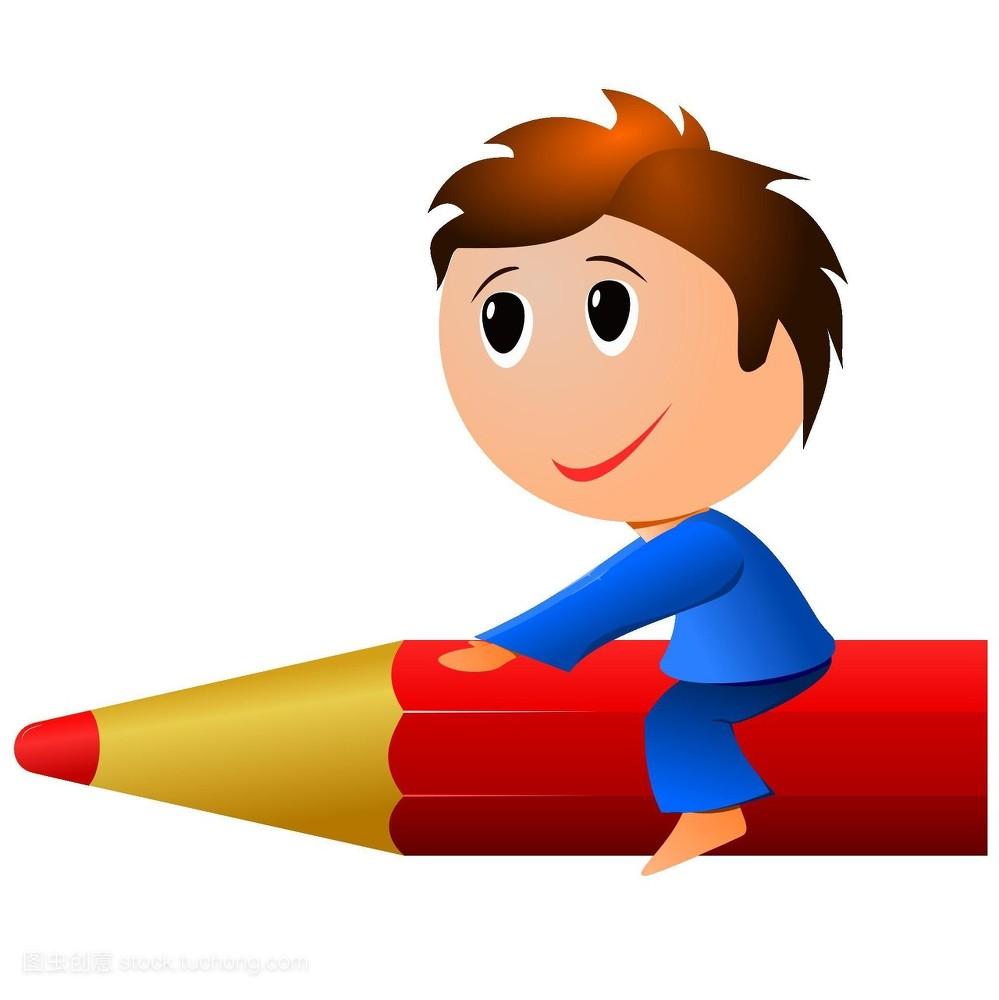 小��(���^kN�_咬,小的,快乐童年,信函,微笑,玩耍,信件,工作,小孩,男孩,木棒,年龄