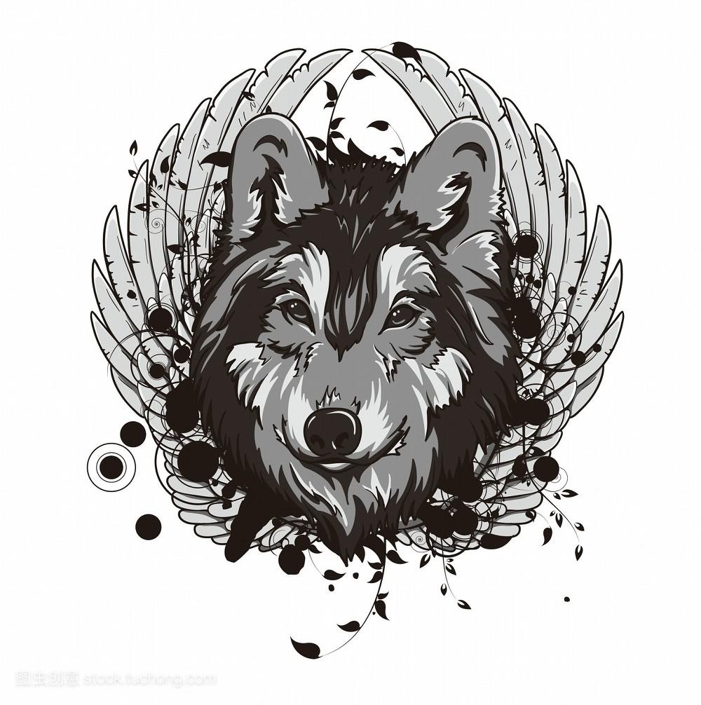 装饰,旧,背景,艺术,衰老,花卉,创意,设计,雅致,狼,古老,圆形,动物图片