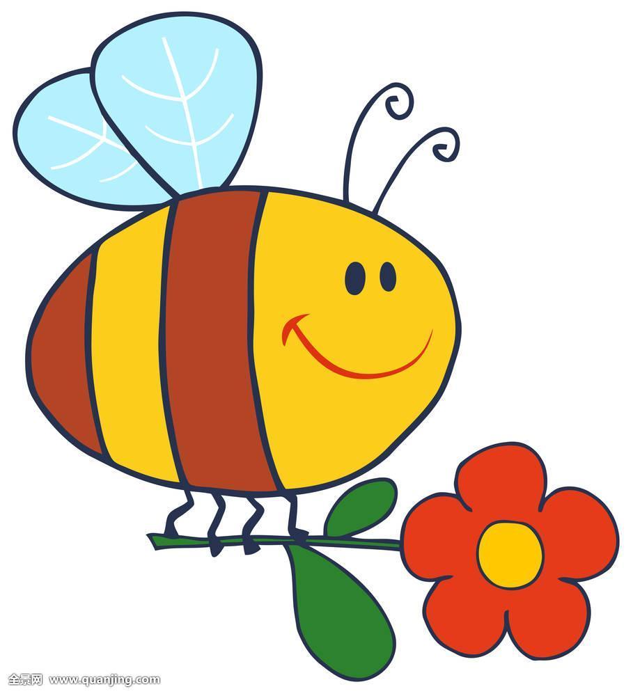 高兴,蜜蜂,飞,花_表情大全图片