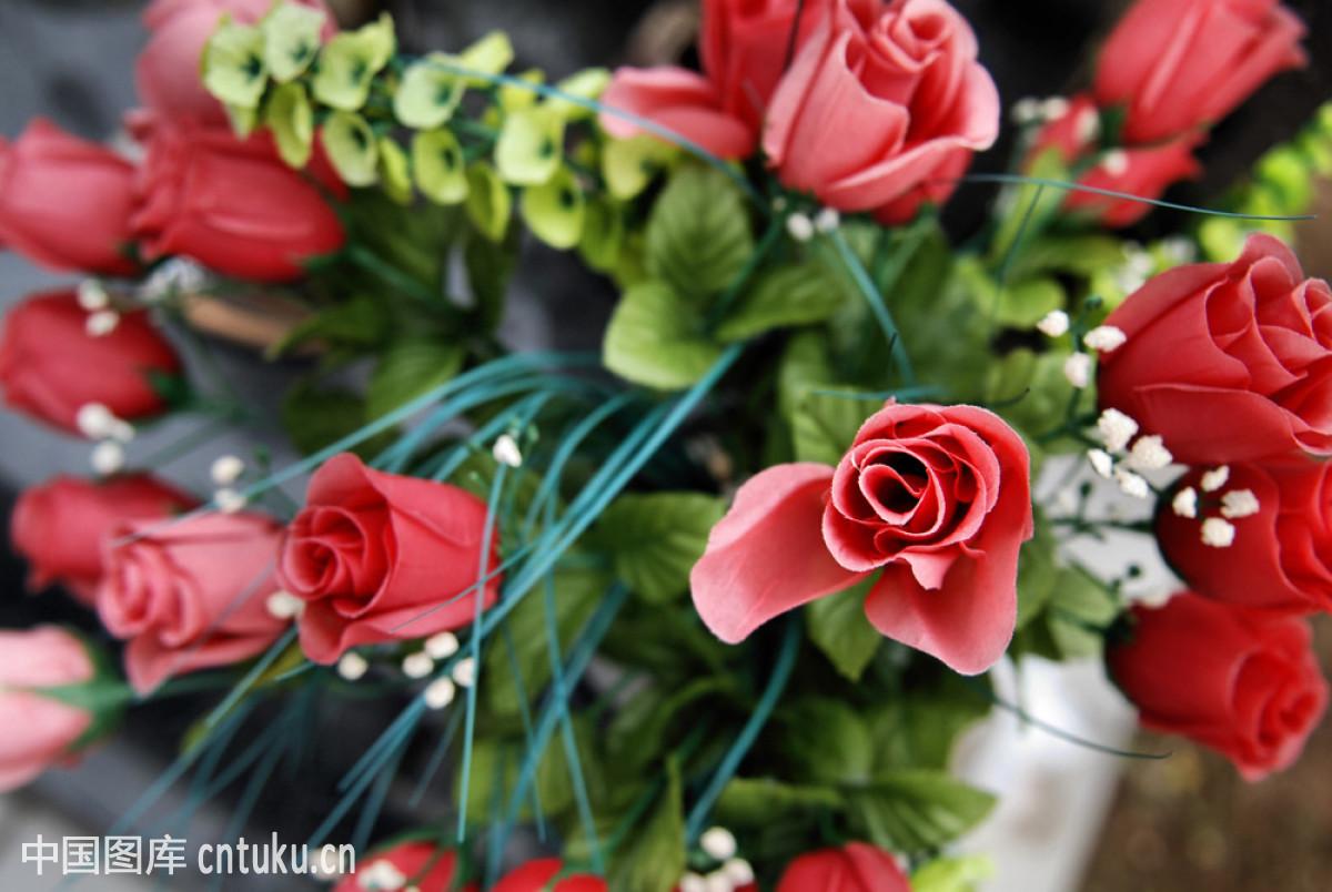 花,记忆,旧的,玫瑰,墓地,荣誉,死亡,图姆斯通,葬礼,组物体,白天,塑料图片