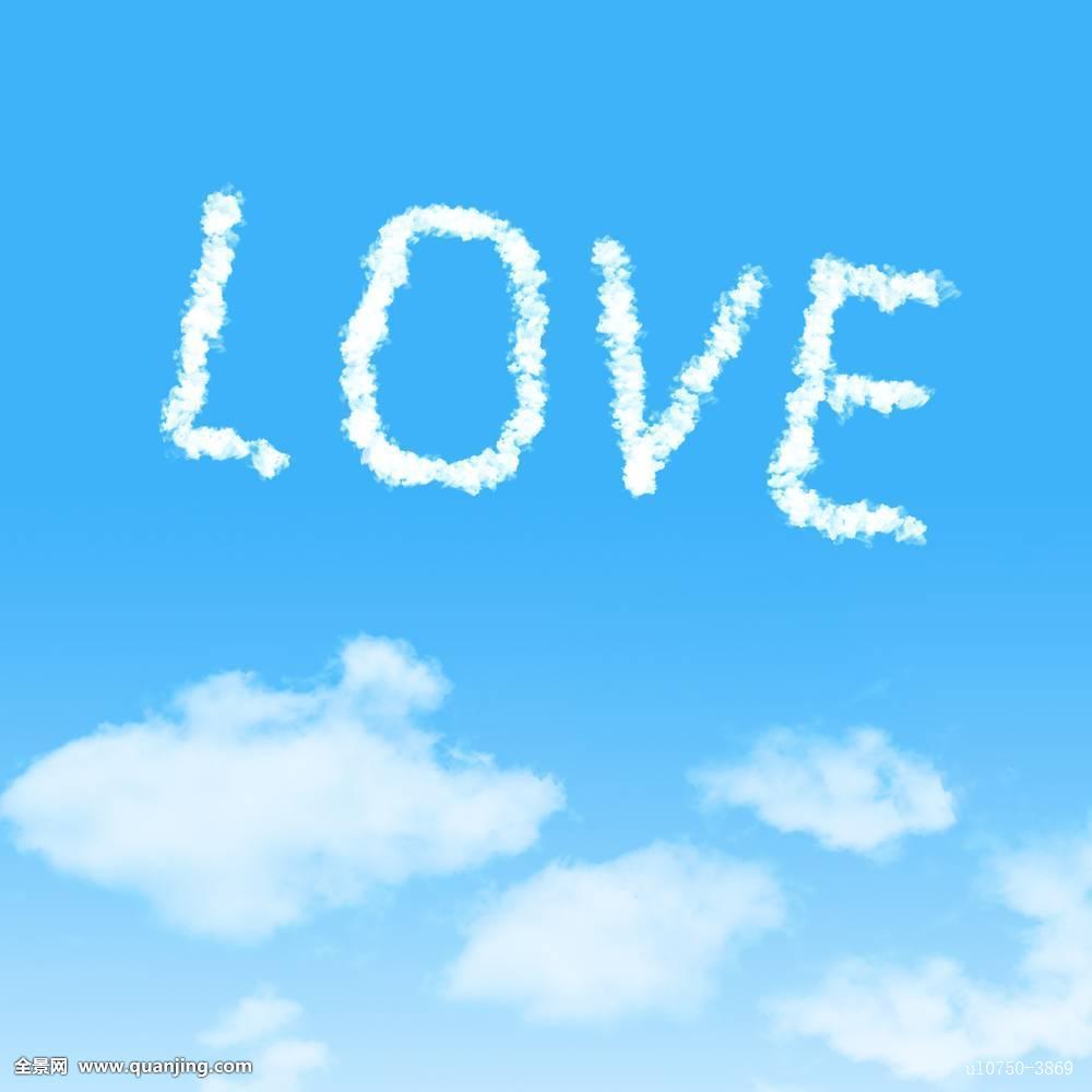 背景,漂亮,蓝色,云,概念,创意,白天,设计,绒毛状,飞,自由,友谊,心形图片
