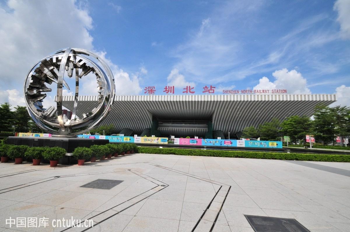 深圳北站广场图片