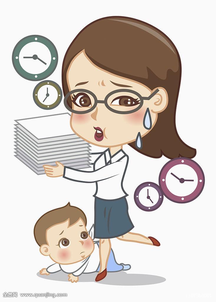 插画描绘人母亲女人女成年60多岁全身45岁23岁34岁
