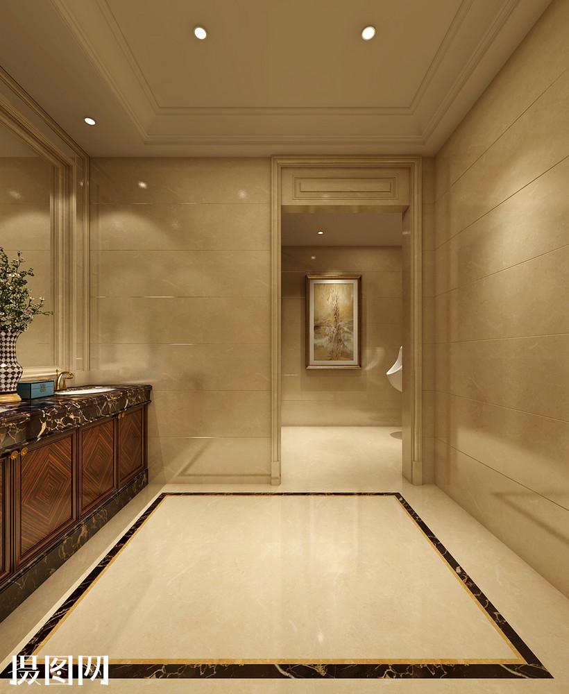 欧式奢华风卫生间室内设计效果图图片