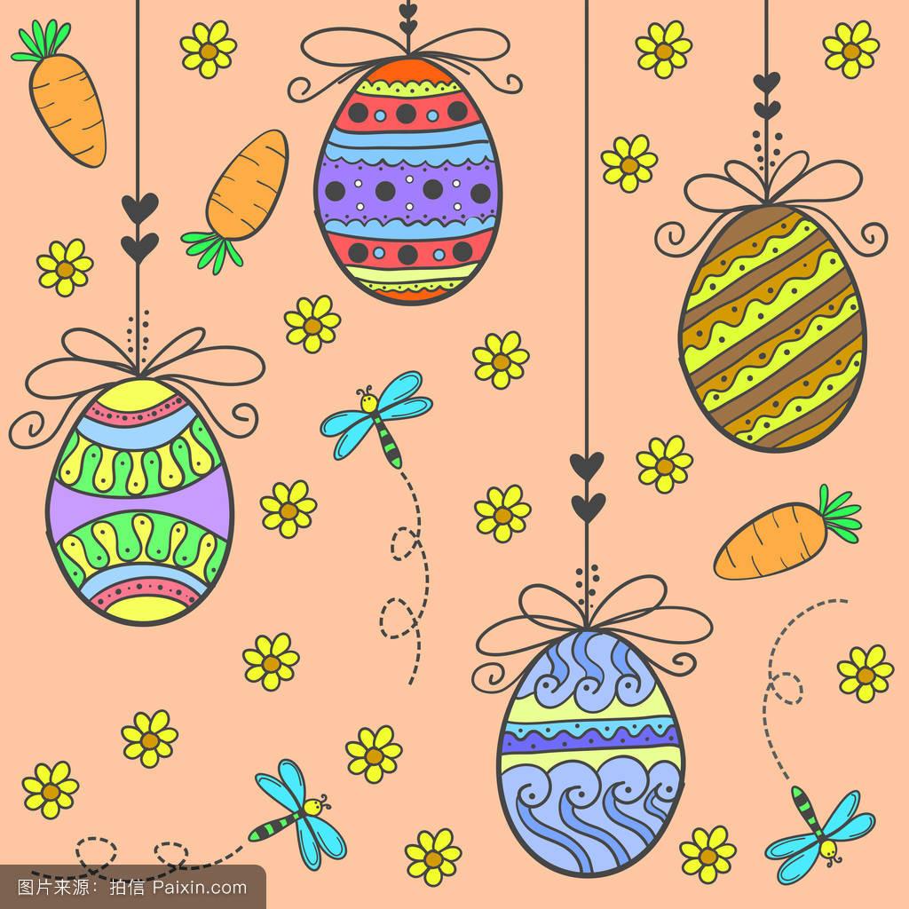 符号,复活,鸟,染料,收集,假日,兔子,花,绘画,分离,概述,篮子,糖果图片图片