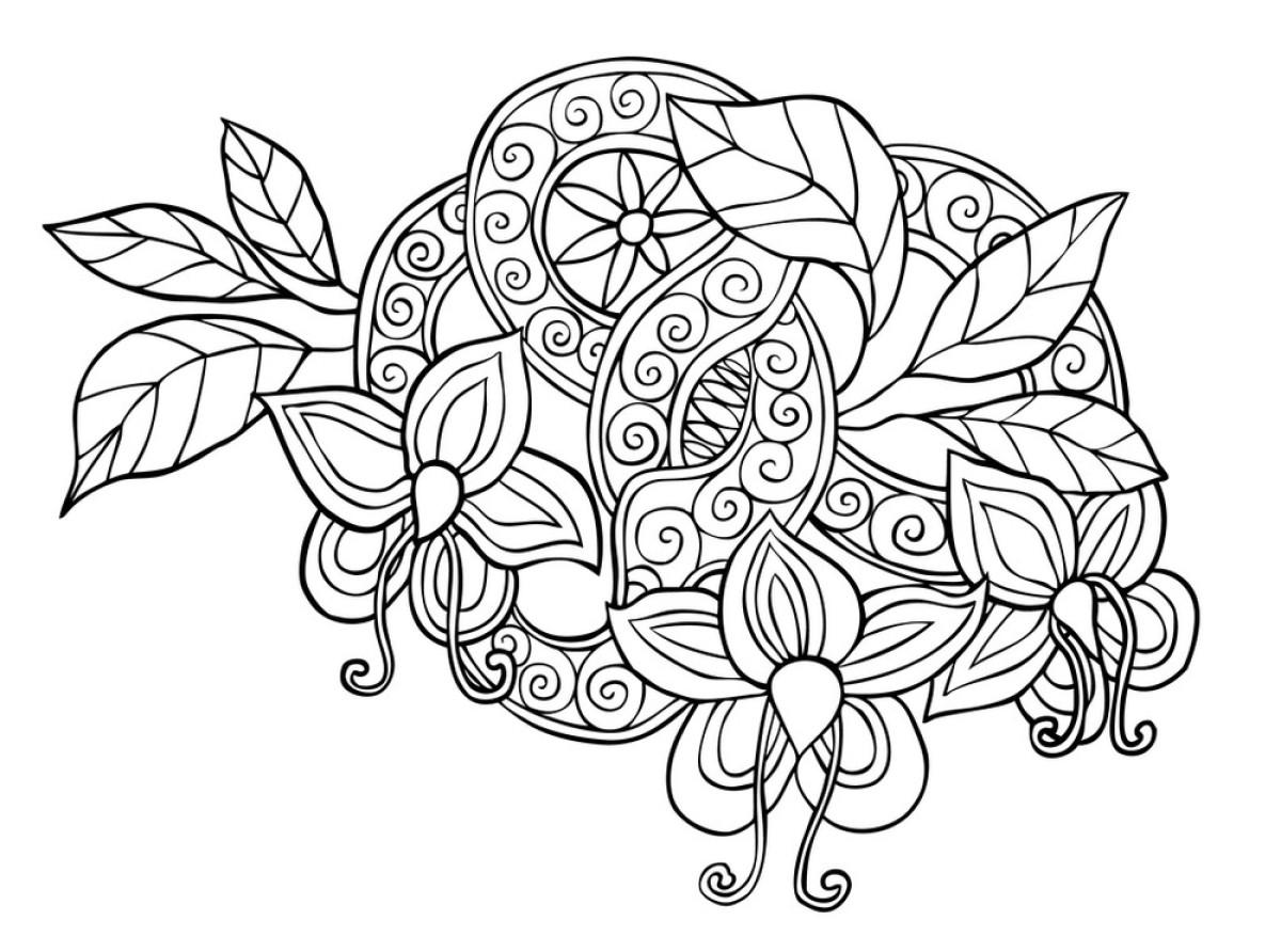 华丽的,兰花,曼荼罗,人种,墨水,铅笔,设计,矢量图,纹身,漩涡形,艺术图片