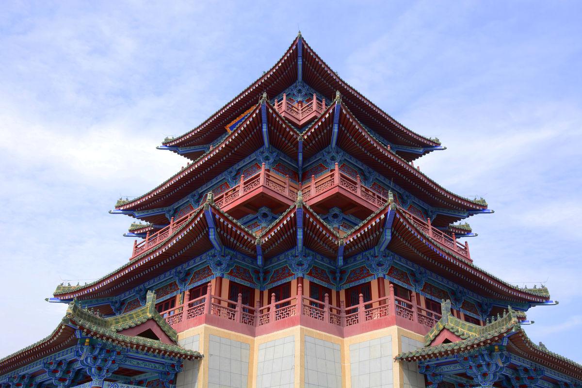 古代建筑屋檐,中式古典建筑,飞檐,屋檐,古建筑,大殿飞檐,开封守望阁图片