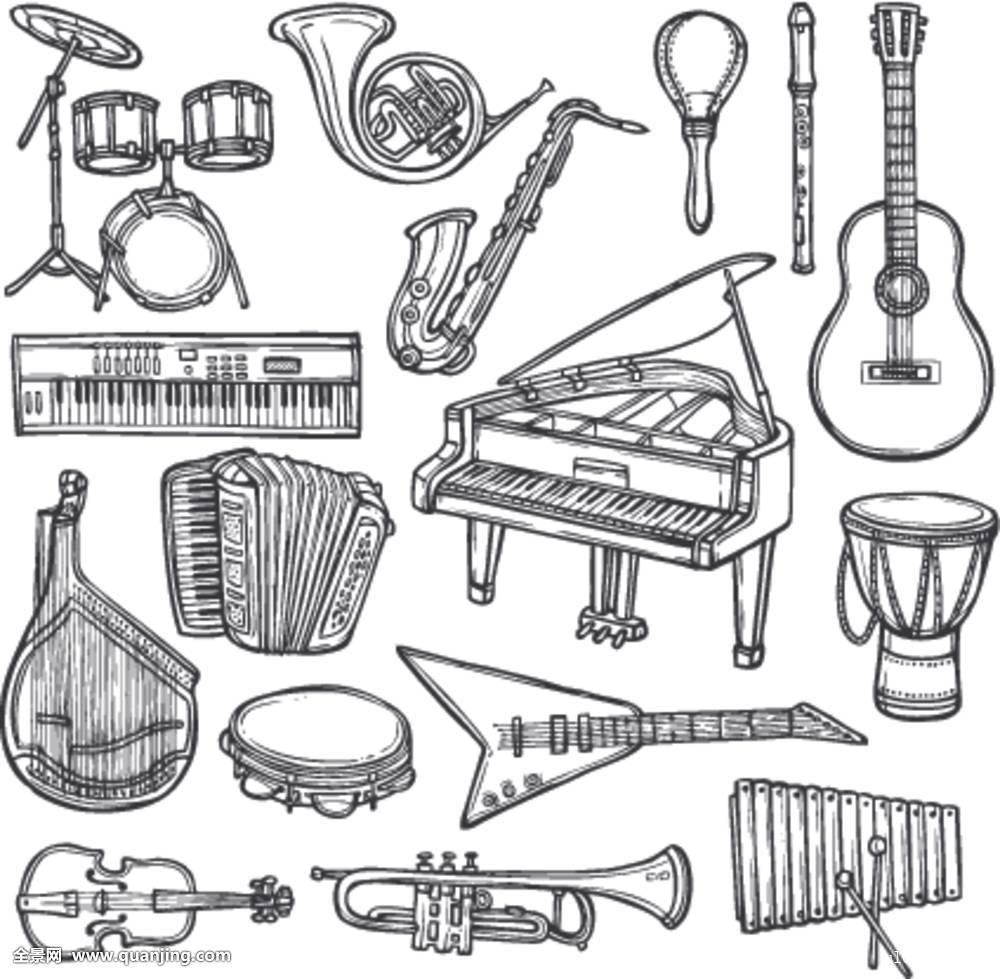 吉他素描分享展示图片