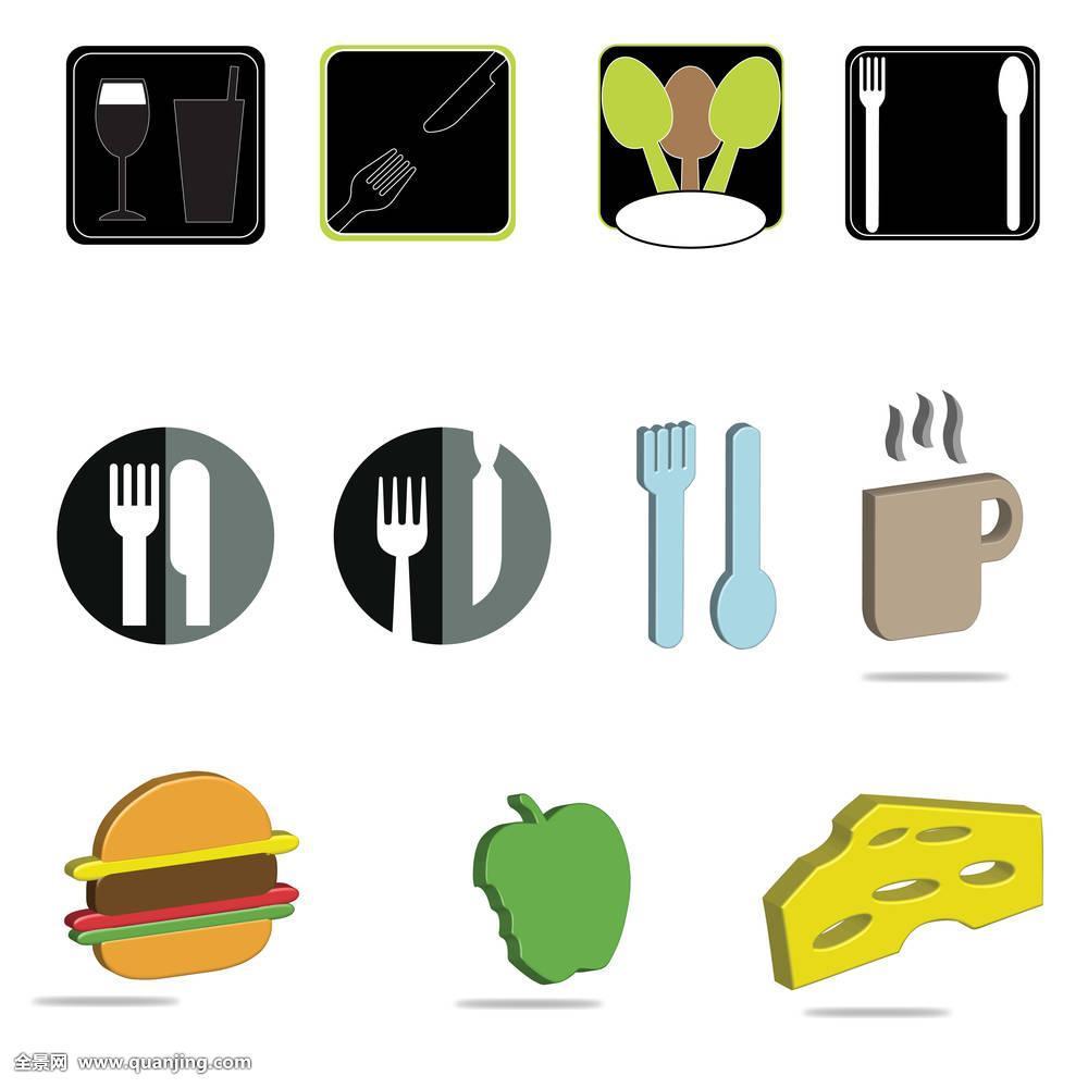 苹果,干酪汉堡包,奶酪,3d,餐具,银器,刀,叉子,吃,用餐,餐馆,就餐,餐饮图片