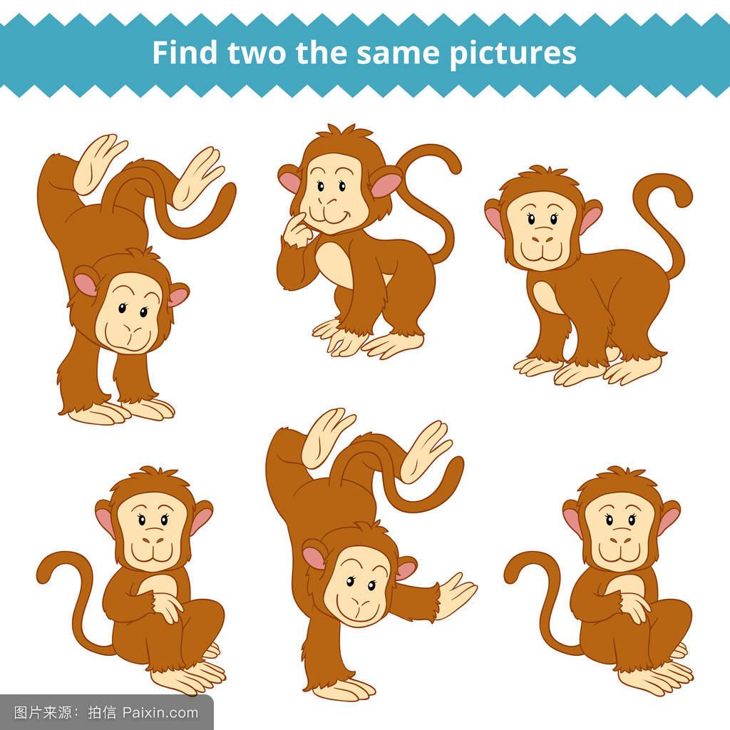 画猴子用什么颜色_卡通,逻辑,性格,动物园,游戏,猿,猴子,消遣,收集,匹配,秘密,搜索,谜