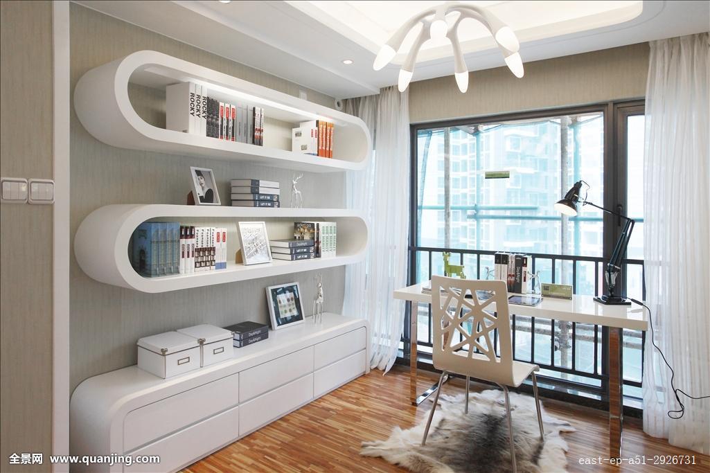 室内,装饰,家居,书房,静物,舒服,水平构图,椅子,住宅内部,桌子,窗图片