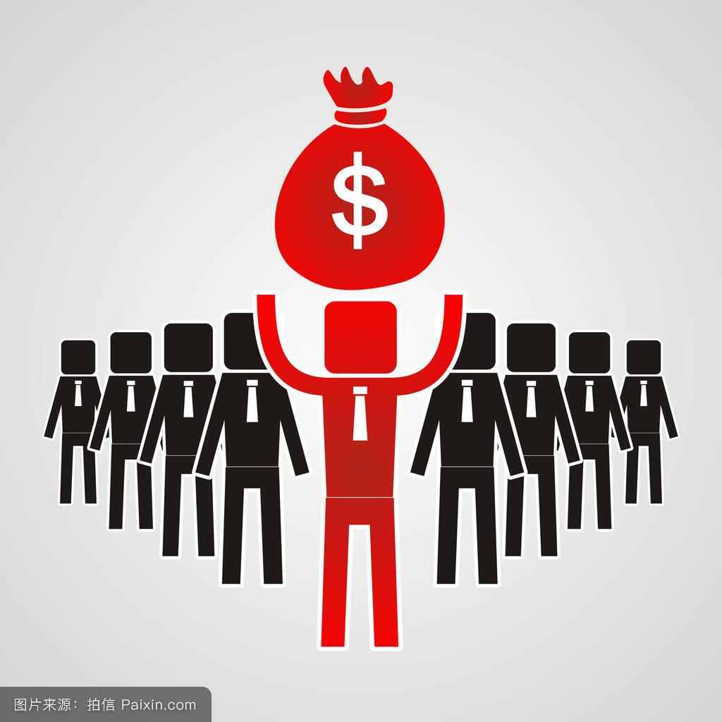 利�9.���zh�c._卡通,利润,性格,平的,经理,硬币,金融的,概念,商业,管理,控制,工作