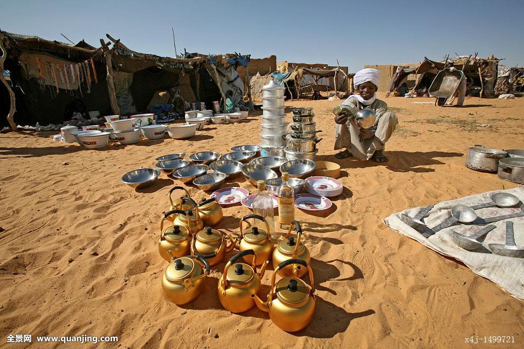 非洲,干燥,商业,买,露营,荒芜,经济,金色,壶,生活方式,市场,金属,人图片
