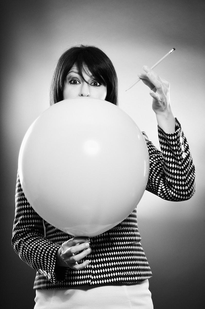 女人,热气球图片