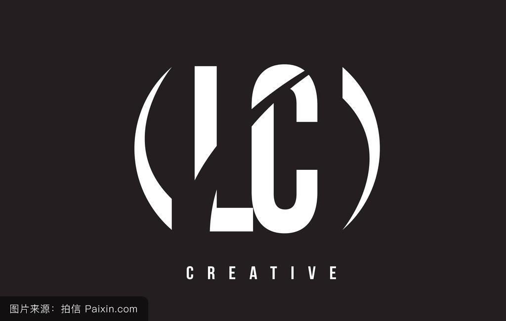 _lc l c的白色字母标�
