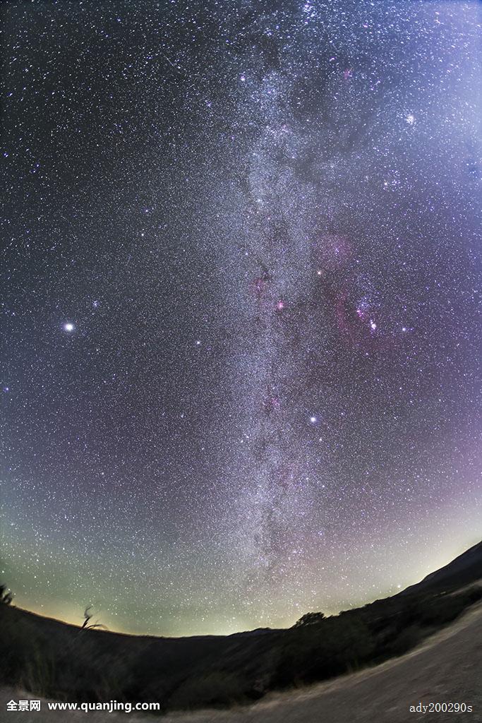 俯视森林星空分享展示图片