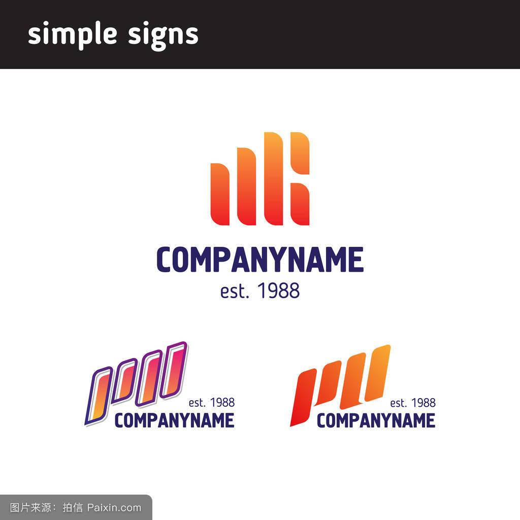 现代的,符号,网站,线,矢量,商业,收集,标志元素,logo矢量,标志图标图片