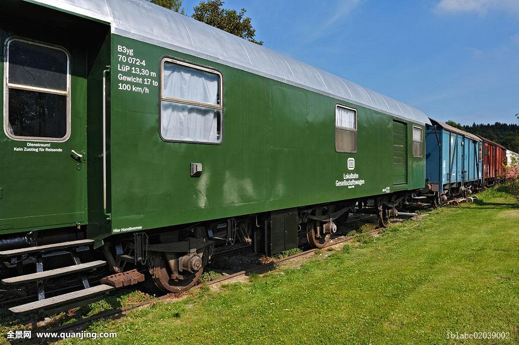 火车_老,铁路,车厢,巴伐利亚,德国,欧洲