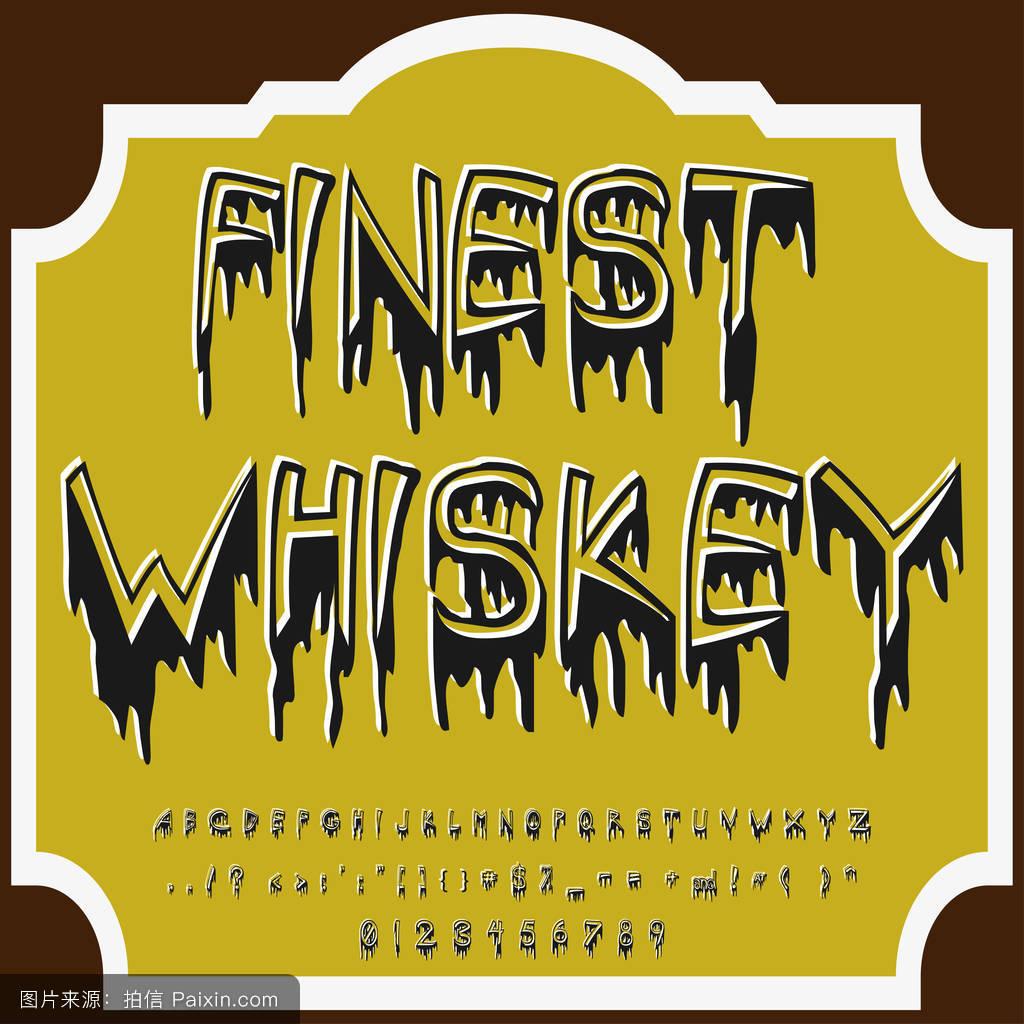 字体字体最佳威士忌古董脚本字体矢量字体标签和任何类型的设计图片