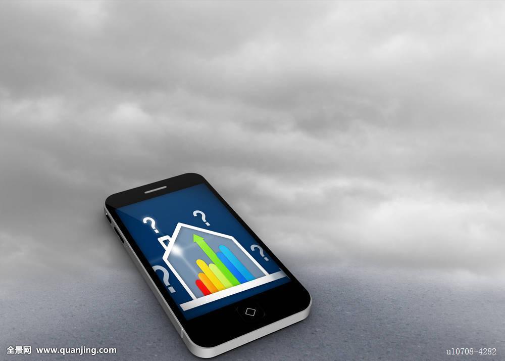 合成效果图像评定房子智能手机显示屏